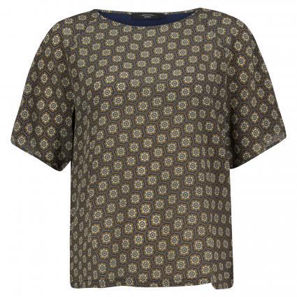 T-Shirt mit All-Over Muster grün (008 jade) | M