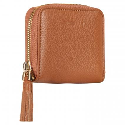 Portemonnaie 'Tassel' aus Leder cognac (W03 CARAMEL) | 0