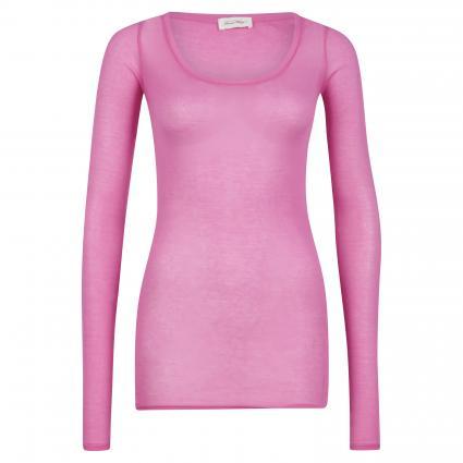Langarmshirt mit Rundhalsausschnitt pink (PINKY) | S