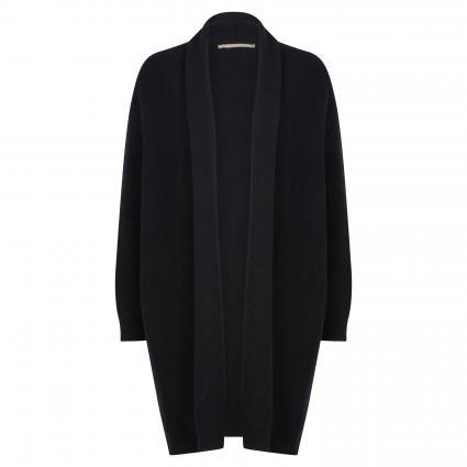 Offene Strickjacke aus Cashmere schwarz (901 black) | 38