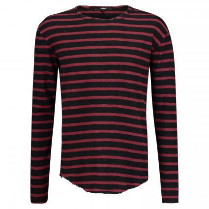 Pullover mit Streifenmuster schwarz (9182 black bordeaux)   XL