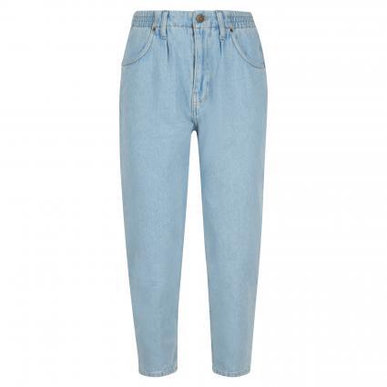 Slim-Fit Jeans mit elastischem Bund blau (BLEU) | L