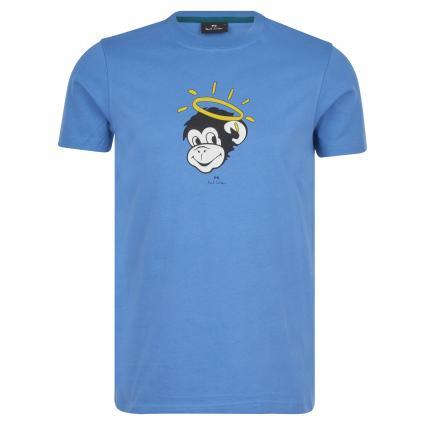 T-Shirt mit Rundhalsausschnitt blau (45A blue monkey) | XL
