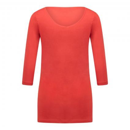 Halbarmshirt mit leichtem V-Ausschnitt orange (8594 orange) | L