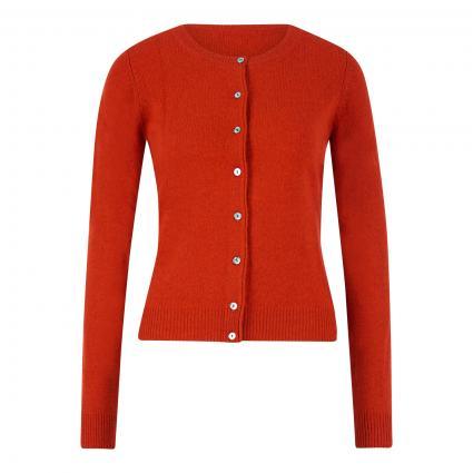 Taillierte Strickjacke aus Wolle rot (rust) | L
