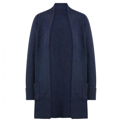 Strickjacke aus Wolle marine (denim blue) | M