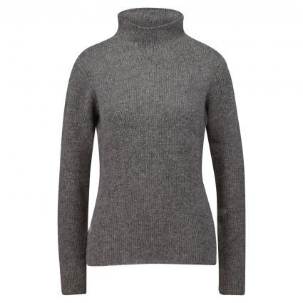 Pullover aus reiner Wolle mit Stehkragen anthrazit (charcoal) | L