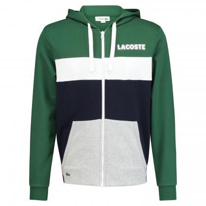 Sweatjacke mit Logo-Aufdruck grün (58Q Green)   XL