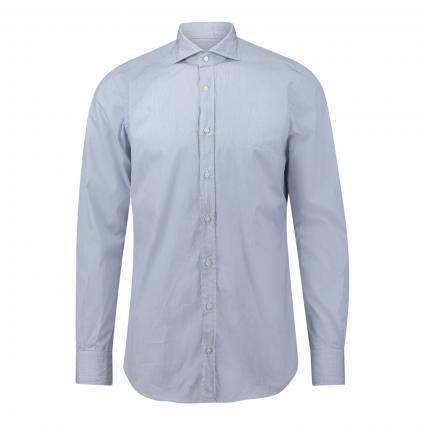 Hemd 'Lano' mit feinen Streifen blau (410) | 42