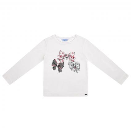 Langarm Shirt mit Schleifen Print  ecru (030 Natural-col) | 98