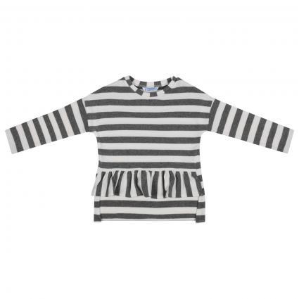 Sweatshirt mit All-Over Streifenmuster  grau (087 Steel) | 92
