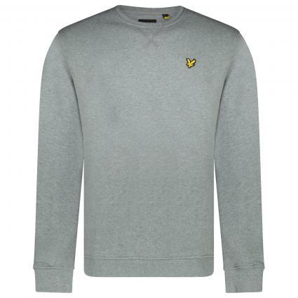 Sweatshirt mit Label-Stickerei  grau (T28 mid grey marl) | M