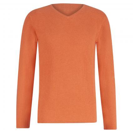 Pullover mit Strukturmuster orange (B3344 Orange)   M