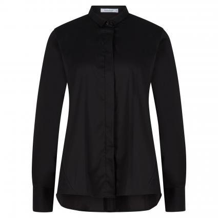 Bluse mit verdeckter Knopfleiste schwarz (99 schwarz) | 34