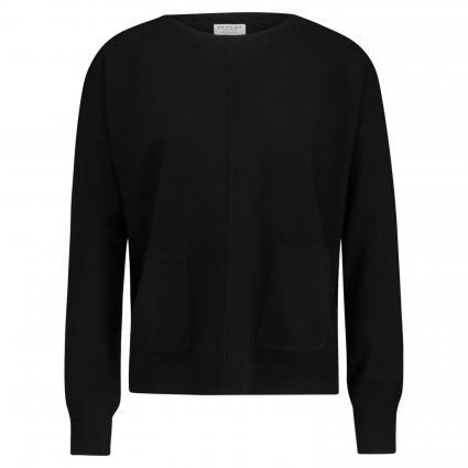 Pullover mit Rundhalsausschnitt aus reinem Cashmere  schwarz (1025 black) | 38