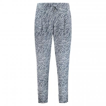 Hose mit All over Musterung weiss (100/26 white deep oc) | S