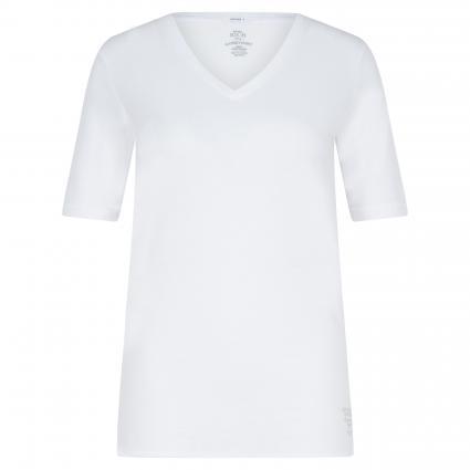 T-Shirt mit V-Ausschnitt weiss (2000 white) | XL
