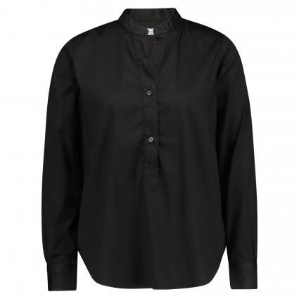 Bluse mit Stehkragen schwarz (99 schwarz) | 38