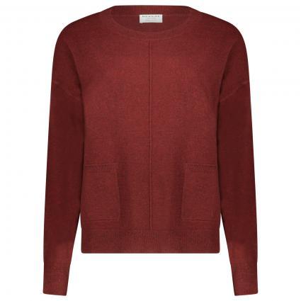 Pullover mit Rundhalsausschnitt aus reinem Cashmere  bordeaux (1340 night red) | 34