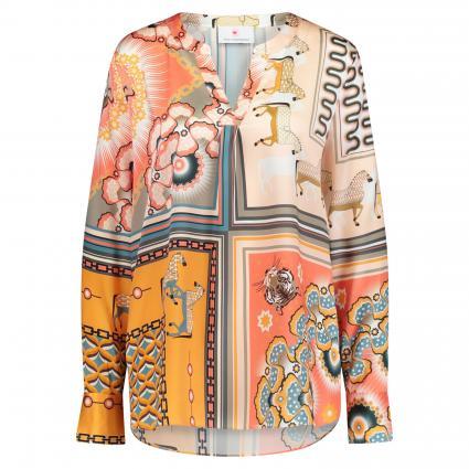Bluse im Tunika Stil mit All Over Druck rose (203052 multi)   44