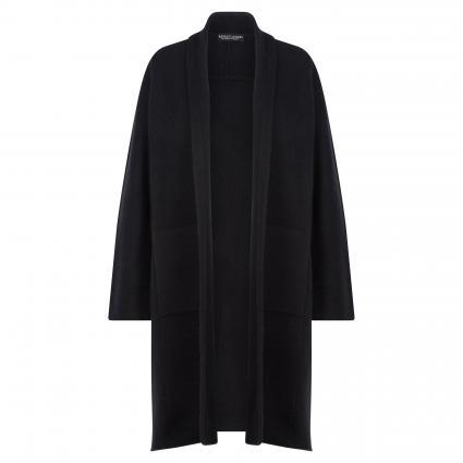 Offene Strickjacke aus reinem Cashmere schwarz (1025 black) | 38
