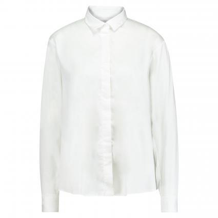 Bluse mit verdeckter Knopfleiste weiss (01 weiß) | 38