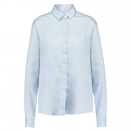 Bluse mit verdeckter Knopfleiste blau (22 bleu) | 36