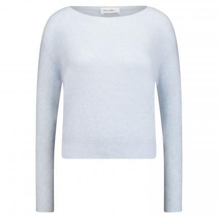 Pullover aus Mohair-Mix blau (BLEU DRAGEE) | S