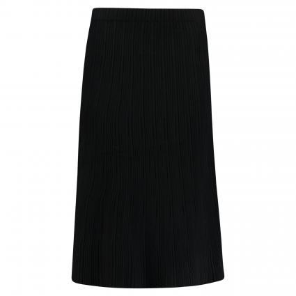 Midirock mit elastischem Bund schwarz (1025 black) | 38