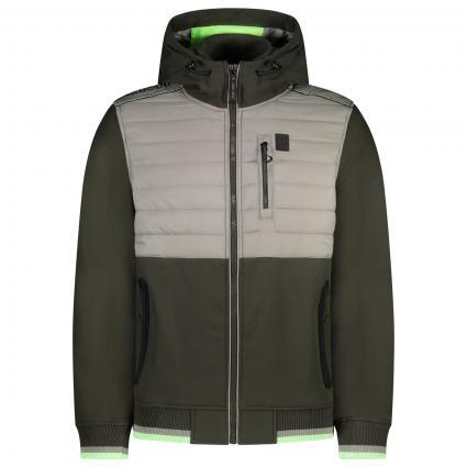 Sportliche Jacke mit Kapuze  grün (Green Dawn)   L