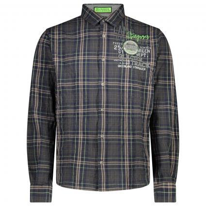 Sportliches Hemd mit All-Over Karomuter   grün (Green Dawn) | S