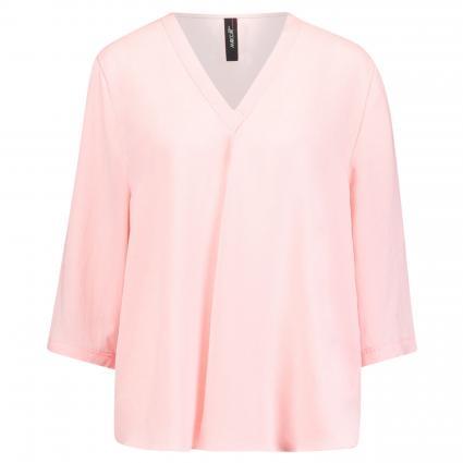 Bluse mit V-Ausschnitt pink (213 candy pink) | 40
