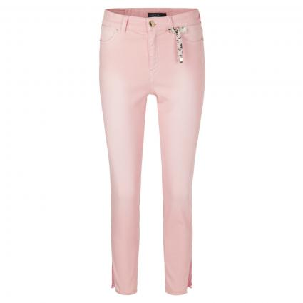 Cropped Slim-Fit Jeans mit Spitze pink (213 candy pink) | 36