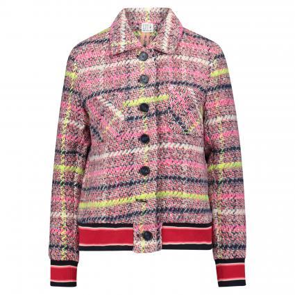 Jacke mit Kontrastbündchen pink (870 pink multi check)   36