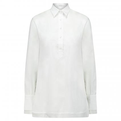 Bluse mit langen Ärmeln weiss (10 weiß) | 40