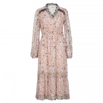 Maxikleid mit All-Over Muster rose (213 candy pink) | 36