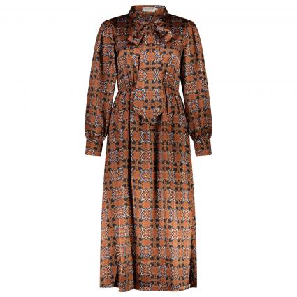 Kleid mit All-Over Muster  braun (MOZAIC CAMEL) | S