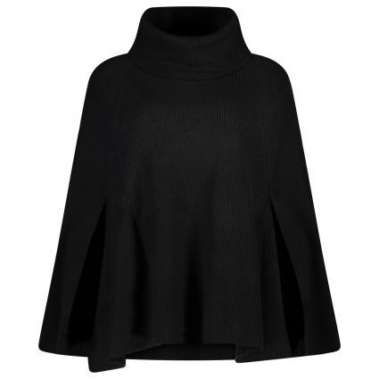 Poncho mit Rollkragen  schwarz (BLACK) | M/L