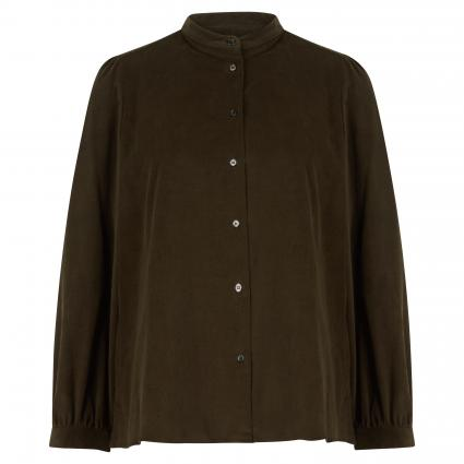 Bluse in Cord-Optik oliv (006 khaki) | 40