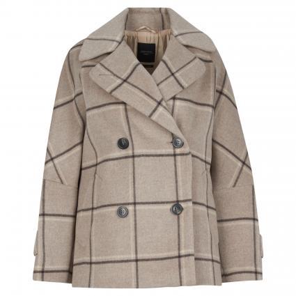 Jacke 'Atalia' aus Wolle taupe (003 karo taupe) | 40
