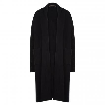 Offene Strickjacke aus Cashmere schwarz (901 black) | 40