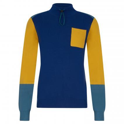Pullover mit Brusttasche blau (48 blue yellow) | L