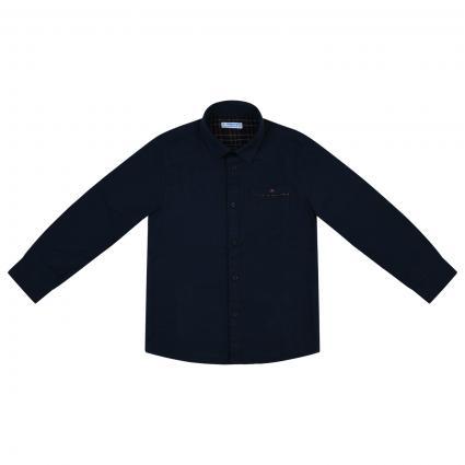 Chemise en pur coton bleumarine (010 Navy) | 116
