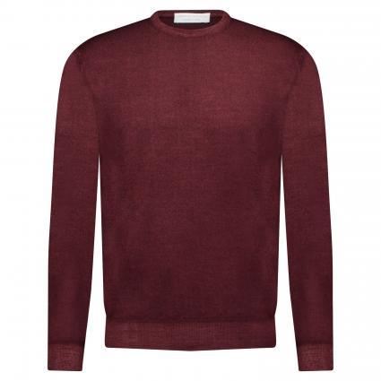 Pullover aus Merinowolle bordeaux (700)   48