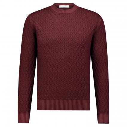 Pullover aus Merinowolle bordeaux (700) | 52