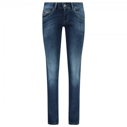 Slim-Fit Jeans 'New Brooke' Mid-Waist blau (000 INDIGO) | 28 | 32