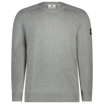 Pullover mit Rundhalsausschnitt grau (T28 mid grey marl)   M