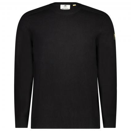 Pullover mit Rundhalsausschnitt schwarz (Z865 jet black) | S
