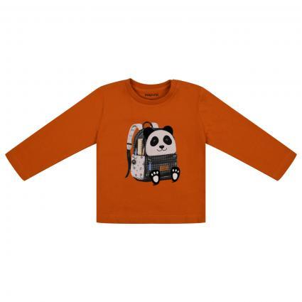 Langarm Shirt mit Zeichentrickfigur orange (082 Cheddar) | 80
