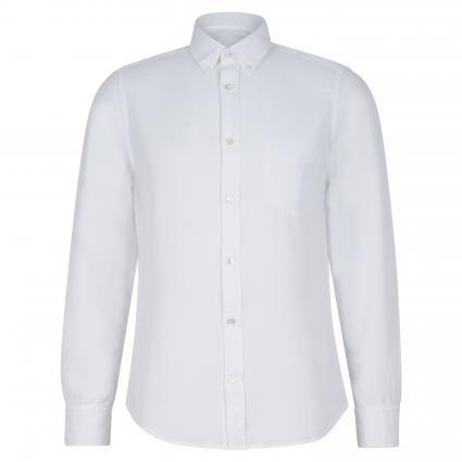 Slim-Fit Hemd mit Brusttasche weiss (001) | XL